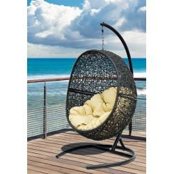 """Плетеное подвесное кресло """"Lunar Black"""""""
