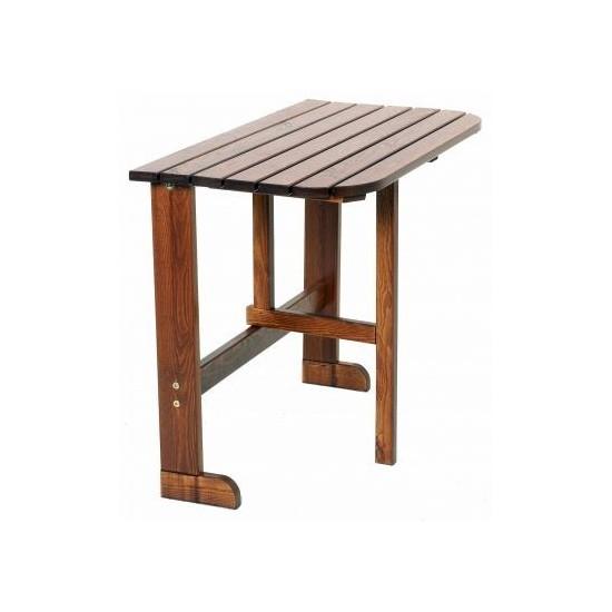 """Раскладной стол из сосны """"twiggy"""" цвет капучино, для балкона."""