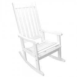 """Кресло-качалка из сосны """"Svannah"""" white"""