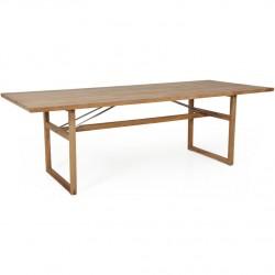 "Обеденный стол из тика ""Vevi"" 230х95см"