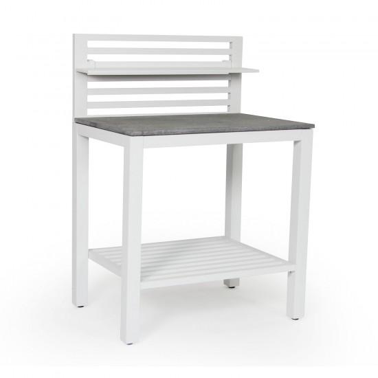 """Модуль """"Bellac"""" white для летней кухни из алюминия"""