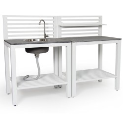 """Комплект модулей """"Bellac"""" для летней кухни из алюминия"""