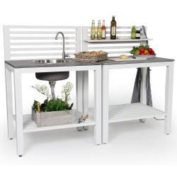 "Летняя кухня ""Bellac"" white из алюминия"