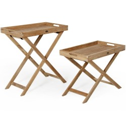 "Комплект столов-лотков ""Turin"" из тика"