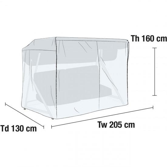 Чехол для садовых качелей 205х130 см, светло-серый