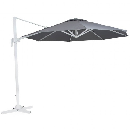 "Зонт ""Linz"" диаметр 300, белый каркас/серый купол"