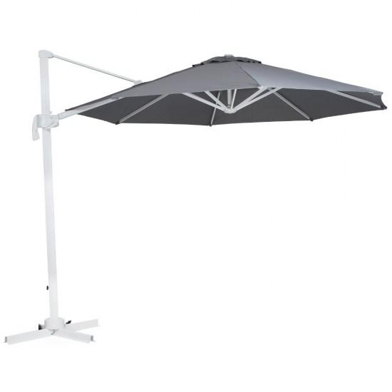 "Зонт ""Linz""  300х300, белый каркас/серый купол"
