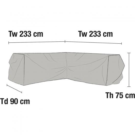 Чехол для углового дивана 233х233
