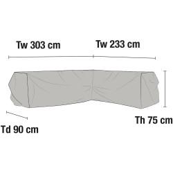 Чехол для углового дивана 233х303
