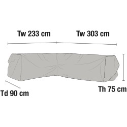 Чехол для углового дивана 303х233