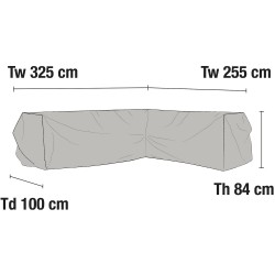 Чехол для углового дивана 255х325