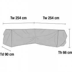 Чехол для углового дивана 254х254