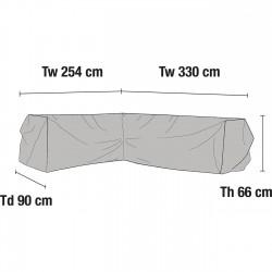 Чехол для углового дивана 330Lх254R