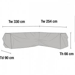 Чехол для углового дивана 254Lх330R