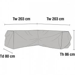 Чехол для углового дивана 203х203