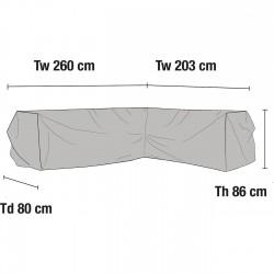 Чехол для углового дивана 203х260