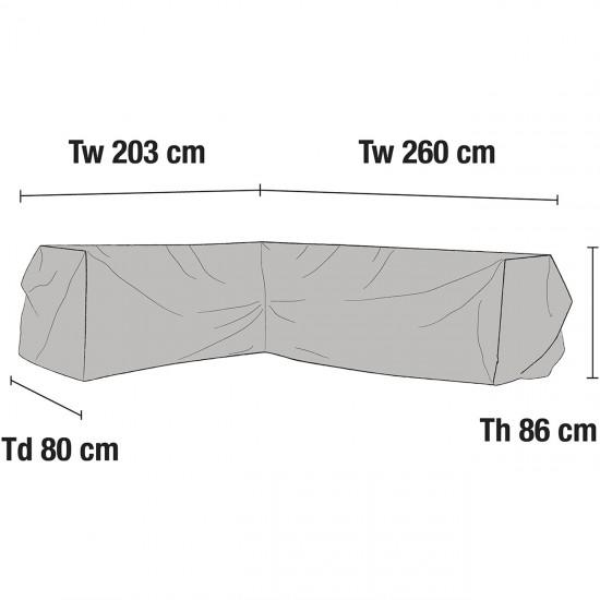 Чехол для углового дивана 260х203