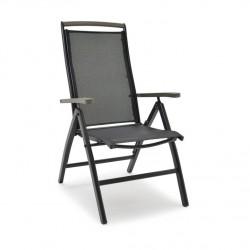 """Кресло раскладое """"Nydala"""" black из алюминия"""
