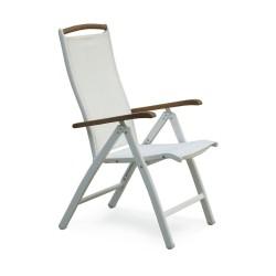 """Кресло из алюминия раскладное """"Nydala"""" white"""