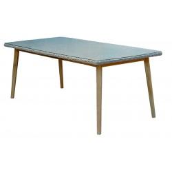 """Обеденный стол из ротанга и акации """"Arosa"""" 200*100 см"""