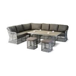 """Мебель из ротанга """"Tropics"""", кофейная группа с угловым диваном"""