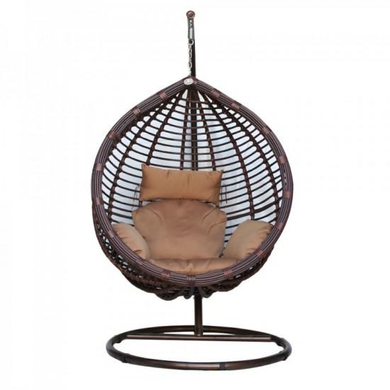 Подвесное плетеное  кресло KM-0021(big) KVI