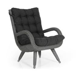 """Кресло """"Silva"""" grey с подлокотниками"""