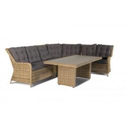 """Мебель из ротанга """"Бергамо"""" с угловым диваном"""