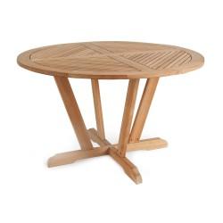 """Стол из тика """"Bilbao"""", d120 см"""