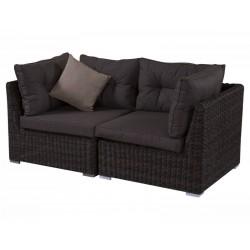 """Плетеная мебель """"Leon brown"""", 2-х местный угловой диван"""