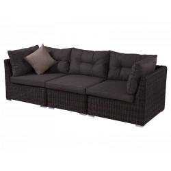 """Плетеная мебель """"Leon brown"""", 3-х местный угловой диван"""