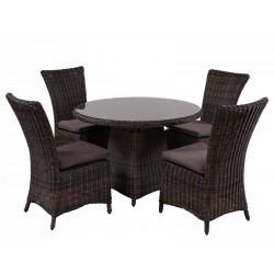 """Плетеная мебель """"Leon&Olimpia"""" brown, стол d110"""