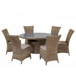 """Плетеная мебель """"Leon&Olimpia"""" naturе, стол d140"""