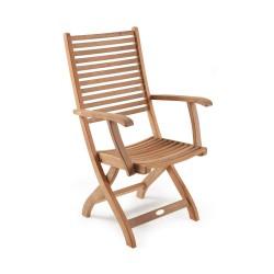 """Кресло с подлокотниками из тика """"Calcutta"""""""