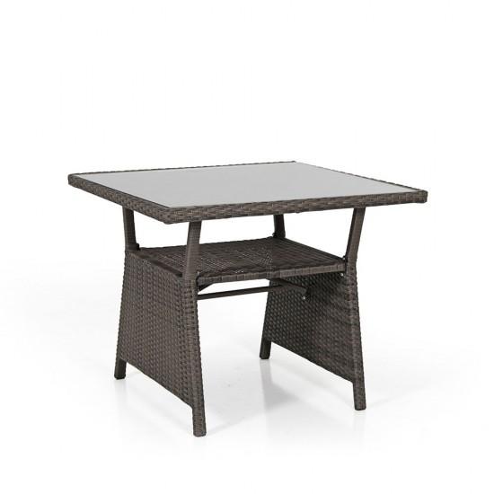 """Стол """"Soho brown"""", 86х86 см, стекло"""