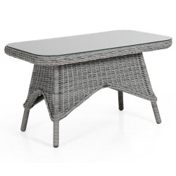 "Плетеный стол ""Paulina"" grey 100х60см"