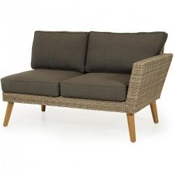 "Угловой диван ""Norwalk"" natur, левая 2-х местная кушетка"