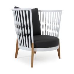 "Кресло ""Fernie"" из тика и алюминия"