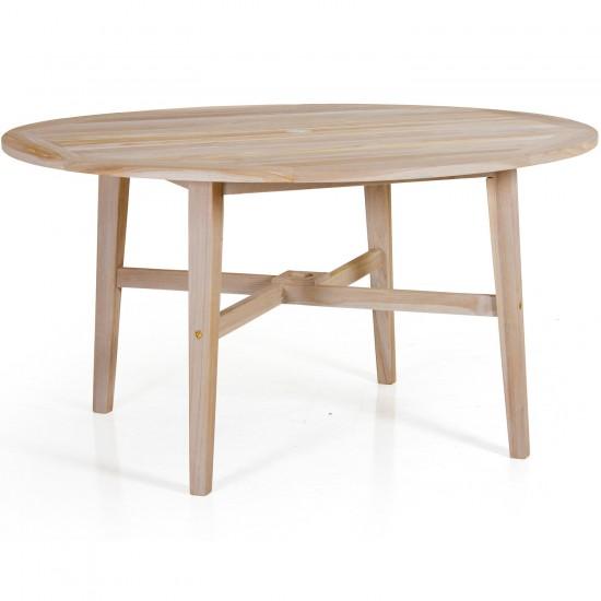 """Стол обеденный из тика  """"Vidos"""" 140 см."""