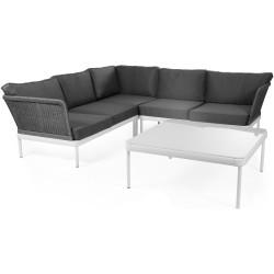 """Угловой диван """"Ajaccio"""" white/grey"""