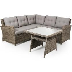 """Мебель из ротанга """"Soho"""" rustic с угловым диваном"""