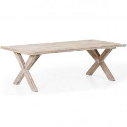 """Обеденный стол из акации """"Arizona"""" 200 см с белым пигментом"""