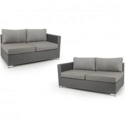 """Угловой диван """"Ninja grey"""" 2 боковые кушетки"""