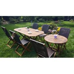 Плетеная мебель деревянная «Ever ton brown» 2 Set