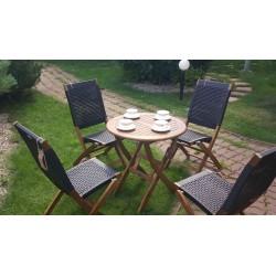 Плетеная мебель деревянная «Ever ton brown» на 4 персоны