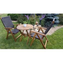 Плетеная мебель деревянная «Ever ton brown» с креслами на 2 персоны
