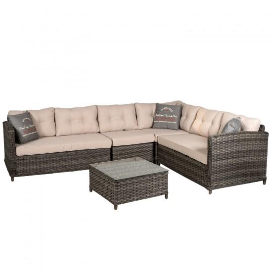 """Плетеная мебель """"Palermo"""", угловой диван"""