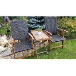 Плетеная мебель деревянная «Ever ton brown» Tea Set с креслами