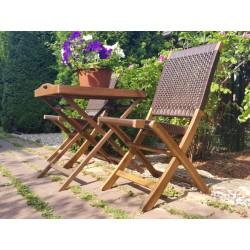 Плетеная мебель деревянная «Ever ton rustic» Tea Set со стульями
