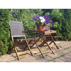 Плетеная мебель деревянная «Ever ton brown» Tea Set со стульями